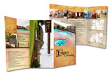 Free custom design and one day turn around on all brochures