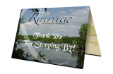 Free custom design and one day turn around on all thank-you-cards