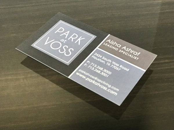 Apartment Business Card